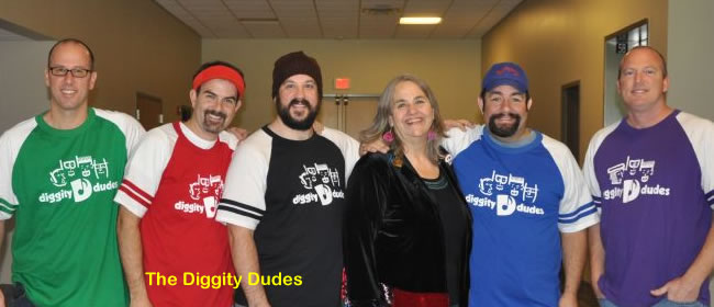 Kathy with The Diggity Dudes